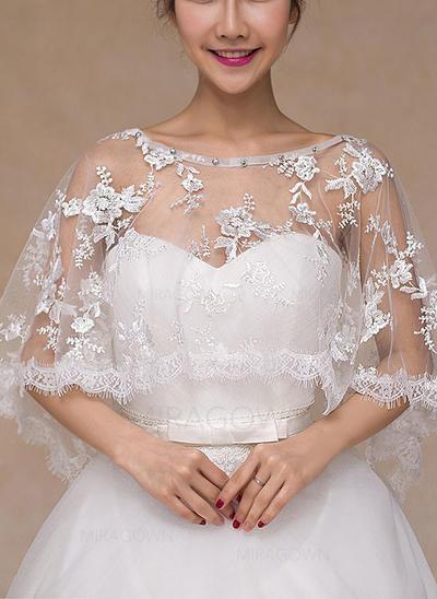 Wrap Bryllup Blonder med Rhinestones Elfenben Rød Sjal (013101820)