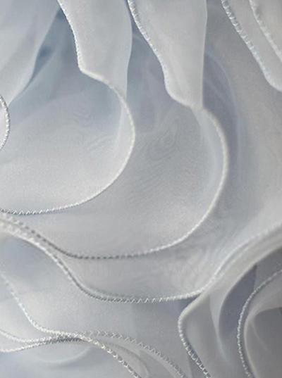 Col rond Sans manches Robes de demoiselle d'honneur - fillette Organza/Satiné Plissé/Ceintures/Fleur(s) Sans manches Longueur ras du sol Forme Princesse (010146888)