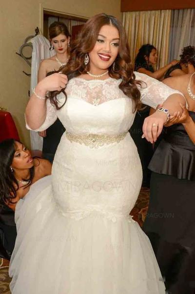 brudekjoler havfrue langermet