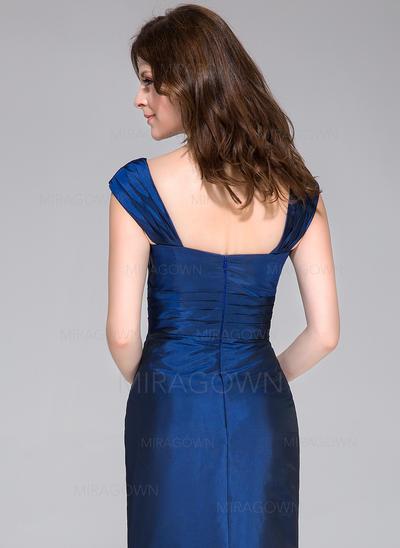 Mode Taffeta Robes demoiselle d'honneur Forme Sirène/Trompette Longueur ras du sol Amoureux Sans manches (007198083)