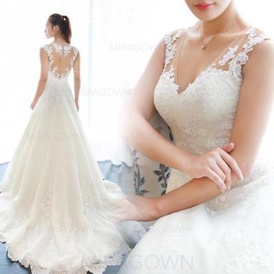 longueur de thé robes de mariée vintage