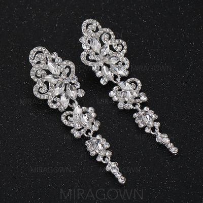 Boucles d'oreilles Alliage/Strass Percées Dames Charme Mariage & Bijoux de Soirée (011123807)