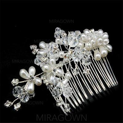 Unik Crystal/Imitert Perle Kammer og Barrettes (Selges i ett stykke) (042137982)