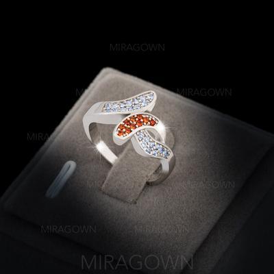 Bagues Cuivre/Zircon de/Platine plaqué Dames Unique Mariage & Bijoux de Soirée (011060626)