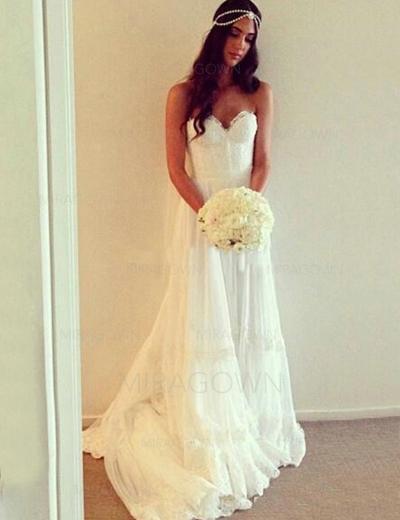strand flytende brudekjoler