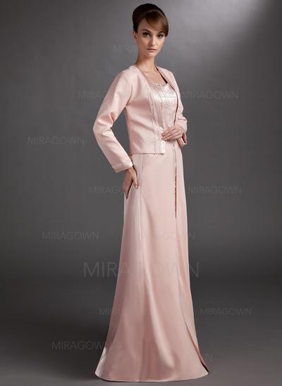 A-formet/Prinsesse kjæreste Gulvlengde Kjoler til Brudens Mor med Profilering (008006265)