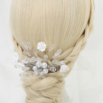 Glamorøse Crystal/Legering/Imiterte Perler/Keramikk Kammer og Barrettes (042070841)