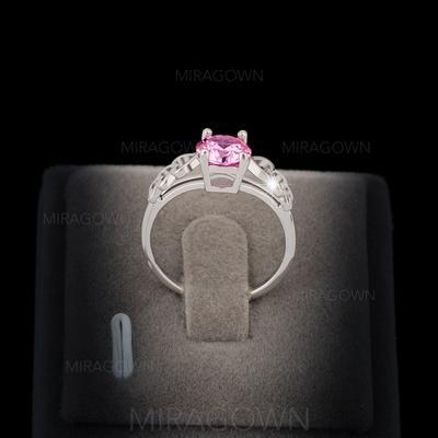 Bagues Cuivre/Zircon de/Platine plaqué Dames Magnifique Mariage & Bijoux de Soirée (011060627)