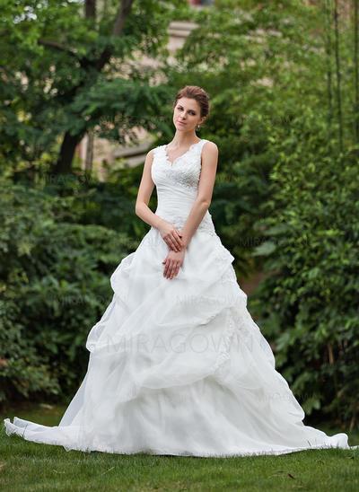 rosa pluss størrelse brudekjoler