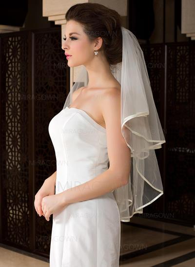 Voiles de mariée valse Tulle 1 couche Style Classique avec Bord en ruban Voiles de mariage (006036617)