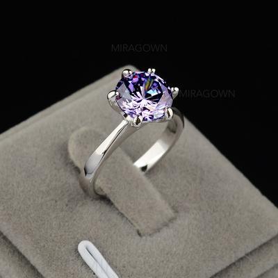 Ringer Zirkon/Platinert Damene ' Elegant Bryllup- & Festsmykker (011055252)