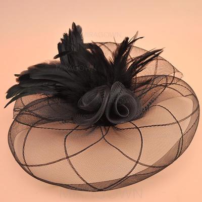 Organza avec Feather Chapeaux de type fascinator Style Vintage Dames Chapeau (196124662)