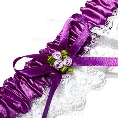 Jarretière Nuptiale Mariage/Occasion spéciale Dentelle avec Rubans/Une fleur Jarretières (104024491)