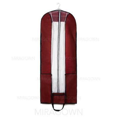 Housse à vêtements Longueur Fermeture éclair centrale Non-tissés Bordeaux Housse pour tenue de mariage (035053129)