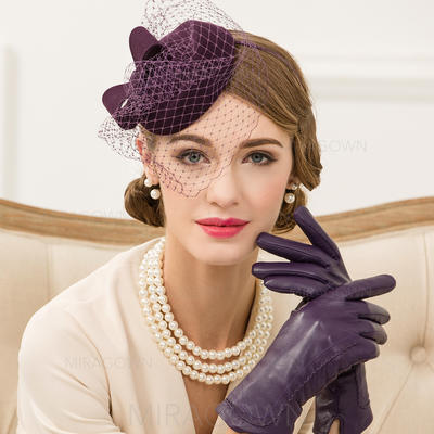Coton avec Tulle Chapeaux de type fascinator Style Vintage Dames Chapeau (196106747)