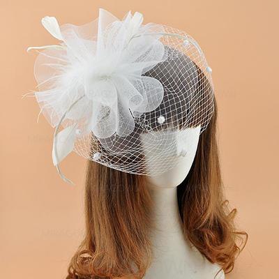 Batiste avec Feather Chapeaux de type fascinator Élégante Dames Chapeau (196124683)