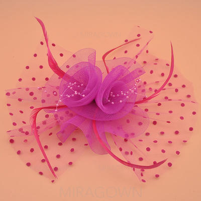 Organza avec Feather Chapeaux de type fascinator Style Vintage Dames Chapeau (196124669)