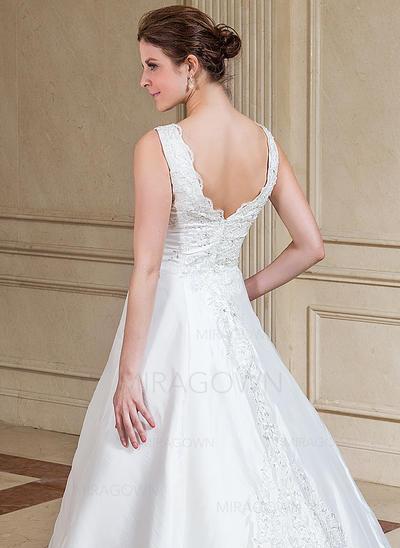 robes de mariée sirène v neck