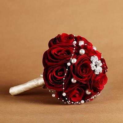 """Bouquets de mariée Rond Mariage Satiné/Soie 10.63""""(Approximative 27cm) Fleurs de mariage (123069397)"""