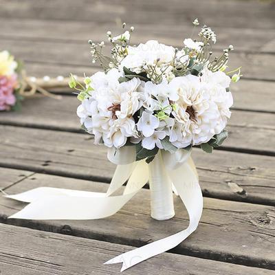 Forme libre Satiné Bouquets de mariée - (123132727)