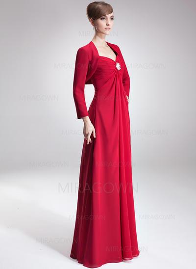 Imperium kjæreste Gulvlengde Kjoler til Brudens Mor med Frynse Krystall Brosje (008002223)