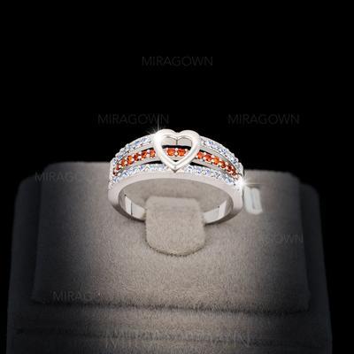 Bagues Cuivre/Zircon de/Platine plaqué Dames Amour éternel Mariage & Bijoux de Soirée (011060653)
