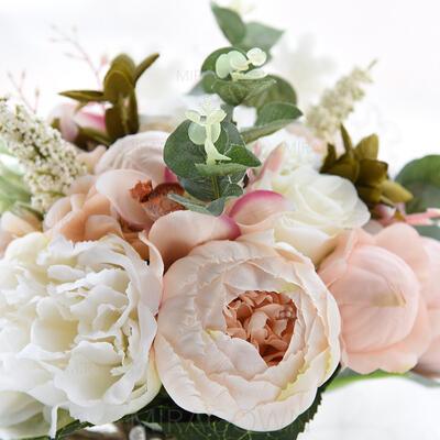 """Bouquets de mariée Rond Mariage Satiné/Soie 11.8""""(Approximative 30cm) Fleurs de mariage (123114695)"""