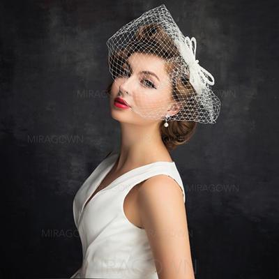 De faux pearl/Tulle avec De faux pearl/Bowknot/Tulle Chapeaux de type fascinator Charme Dames Chapeau (196105067)