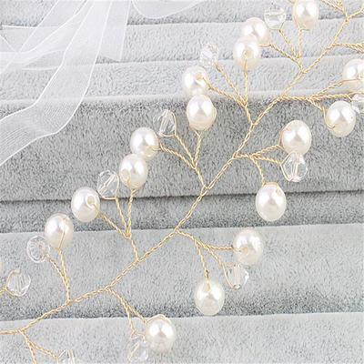 Elegant Imitert Perle Pannebånd (Selges i ett stykke) (042130246)