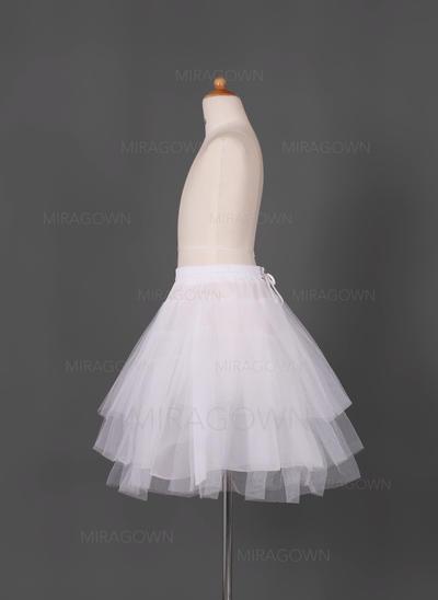 Jupons Court - longueur Tissu tulle/Taffeta Combinaison complète/Slip fleuri fille 3 couches Jupons (037005549)