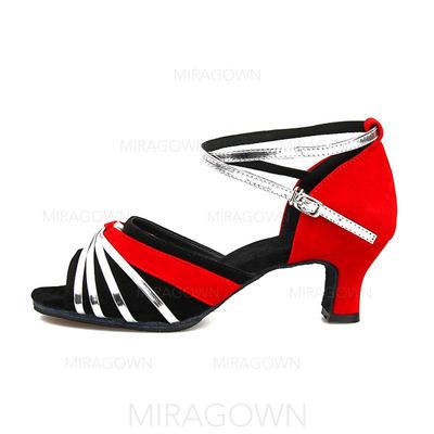 Femmes Latin Sandales Suède avec Ouvertes Chaussures de danse (053103008)