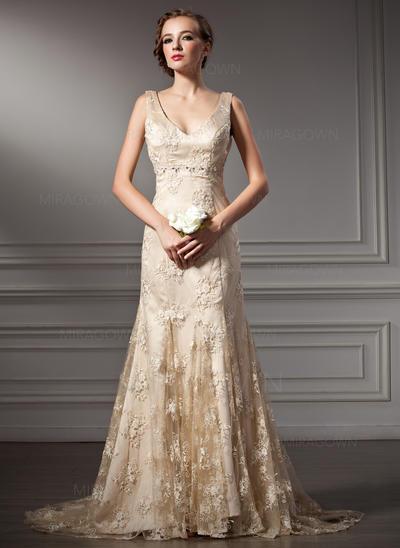 robes de mariée à manches courtes