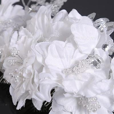 Elegant Crystal/Imitert Perle/Satin Kammer og Barrettes (Selges i ett stykke) (042130205)