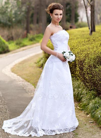 robes de mariée en dentelle avec des manches