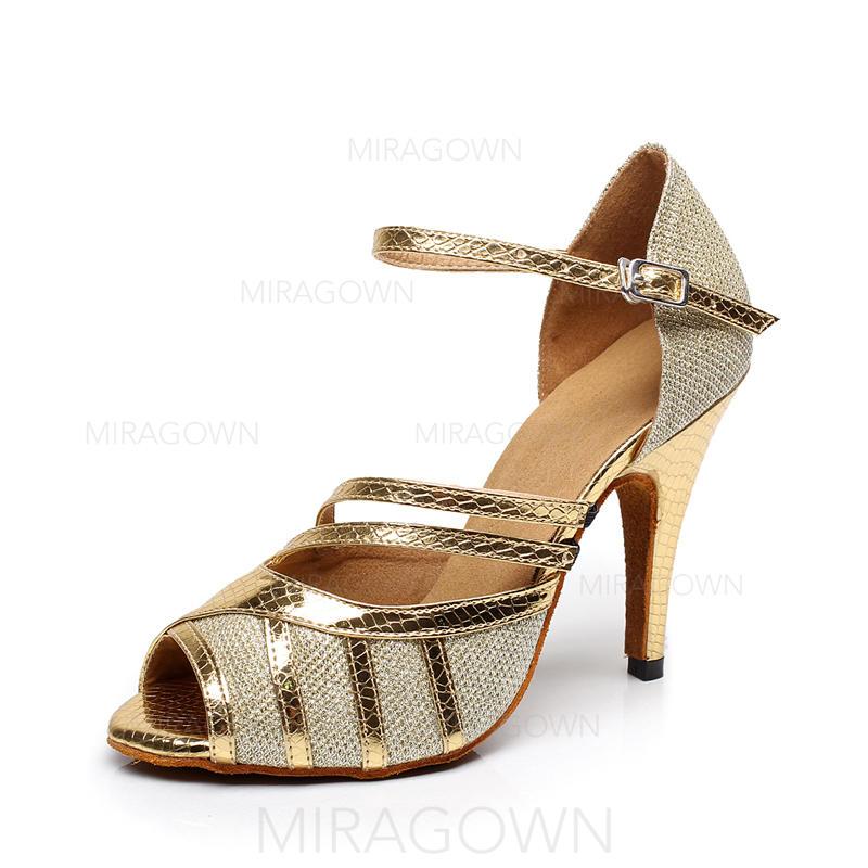 De mujer Danza latina Tacones Sandalias Cuero Zapatos de danza (053088019).  Loading zoom. Cargando 43742eb0b1a0