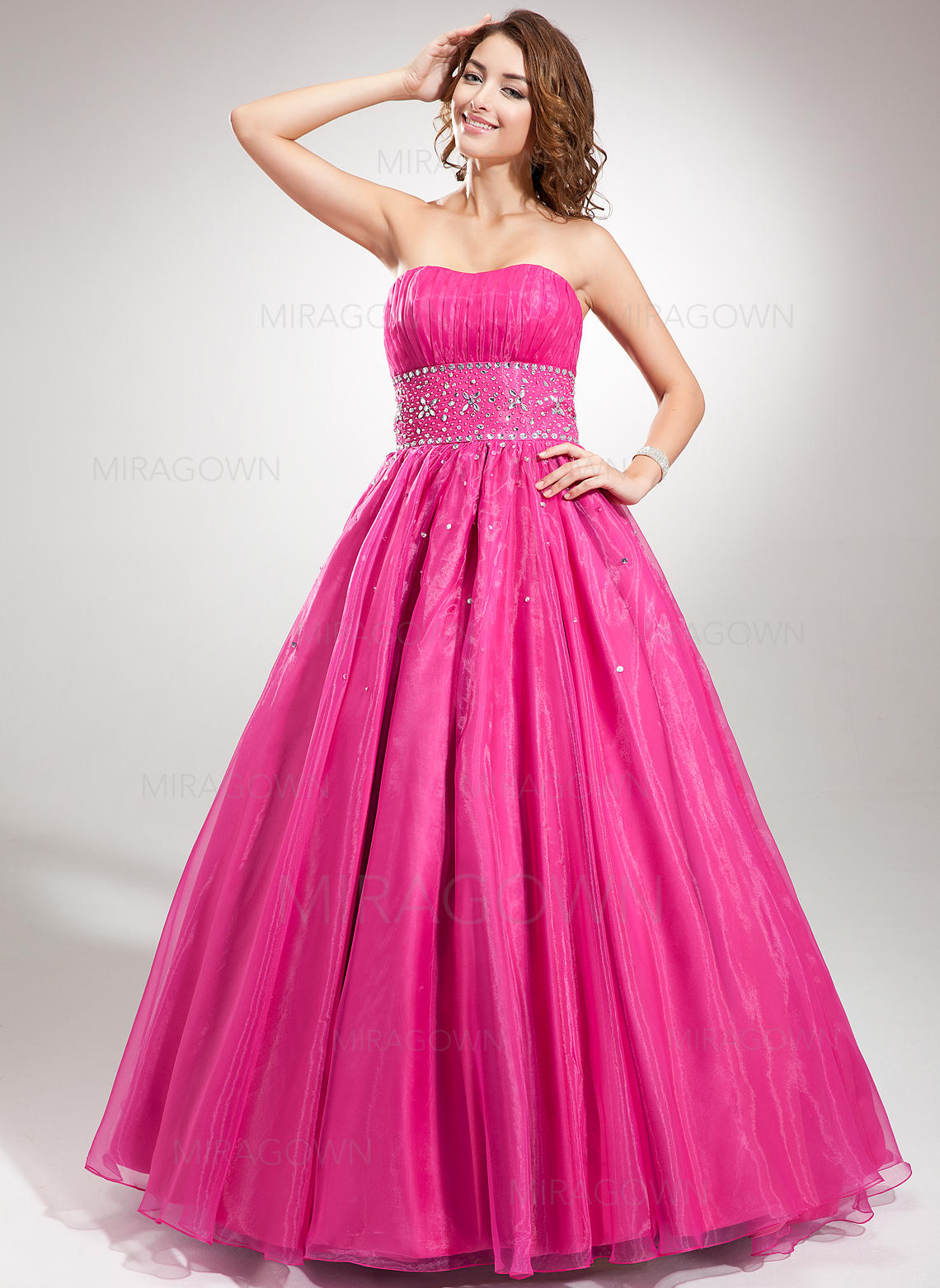 0d8a49d324 Ball-Gown Organza Prom Dresses Ruffle Beading Sweetheart Sleeveless  Floor-Length (018135523). Loading zoom