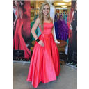 Sweetheart Satin Floor-Length Evening Dresses Sleeveless (017146106)