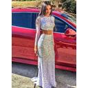 Trumpet/Mermaid Scoop Neck Sequined Long Sleeves Modern Prom Dresses (018145901)