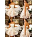 Knee-Length A-Line/Princess Tulle Sleeveless Homecoming Dresses (022212328)