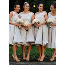 Off-the-Shoulder A-Line/Princess Satin Lace Sleeveless Bridesmaid Dresses (007145022)