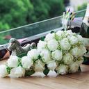 """Bouquets de mariée Cascade Mariage/Fête Satiné 8.66""""(Approximative 22cm) Fleurs de mariage (123031474)"""