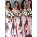 Trumpet/Mermaid Sleeveless Sweetheart Off-the-Shoulder Sequined Bridesmaid Dresses (007144986)