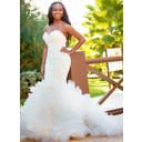 Magnificent Trumpet/Mermaid With Organza Wedding Dresses (002147939)