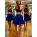 Tulle Sleeveless Detachable Scoop Neck Homecoming Dresses (022212285)