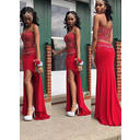 Sweetheart Sheath/Column Jersey Sleeveless Prom Dresses (018146613)