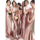 Scoop Neck With Sequined Bridesmaid Dresses (007211567)
