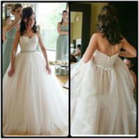 magníficos vestidos de novia de tren