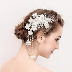 "Combs & Barrettes Wedding/Special Occasion Rhinestone/Alloy/Imitation Pearls 5.91""(Approx.15cm) 3.55""(Approx.9cm) Headpieces"