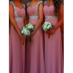 Sweetheart General Plus A-Line/Princess Chiffon Sleeveless Bridesmaid Dresses