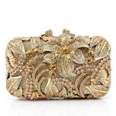 Clutches Wedding/Ceremony & Party Crystal/ Rhinestone/Alloy Clip Closure Attractive Clutches & Evening Bags